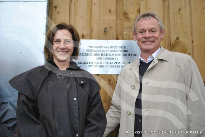 martin clunes at racehorse rehoming centre nov 3 2013